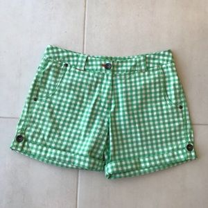 Nike Golf Plaid Cuffed Cotton Stretch Shorts SH138